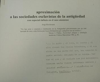 APROXIMACIÓN A LAS SOCIEDADES ESCLAVISTAS DE LA ANTIGÜEDAD