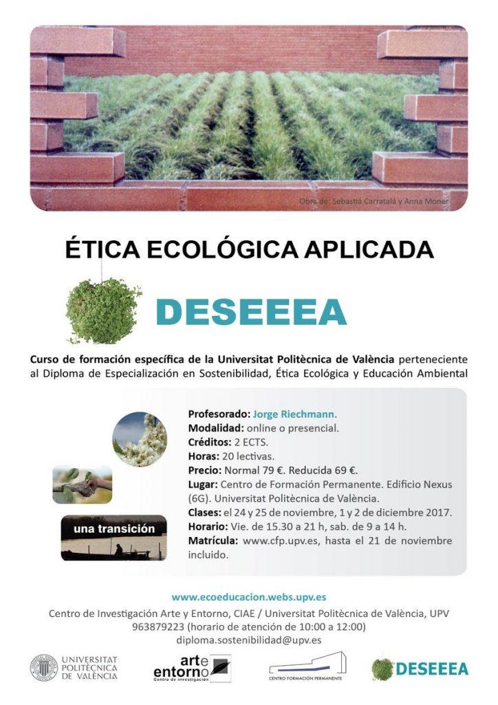 asignatura ÉTICA ECOLÓGICA APLICADA