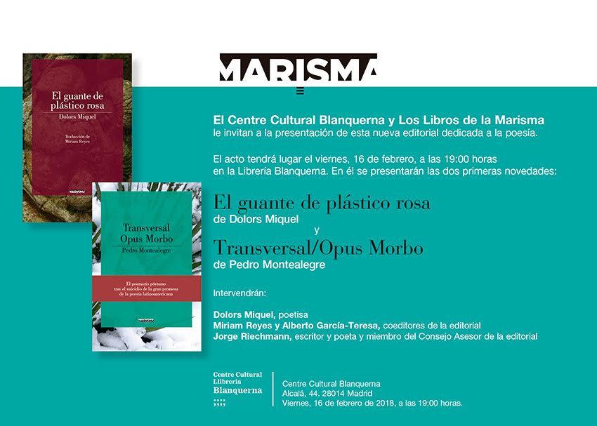 LIBROS DE LA MARISMA en Blanquerna