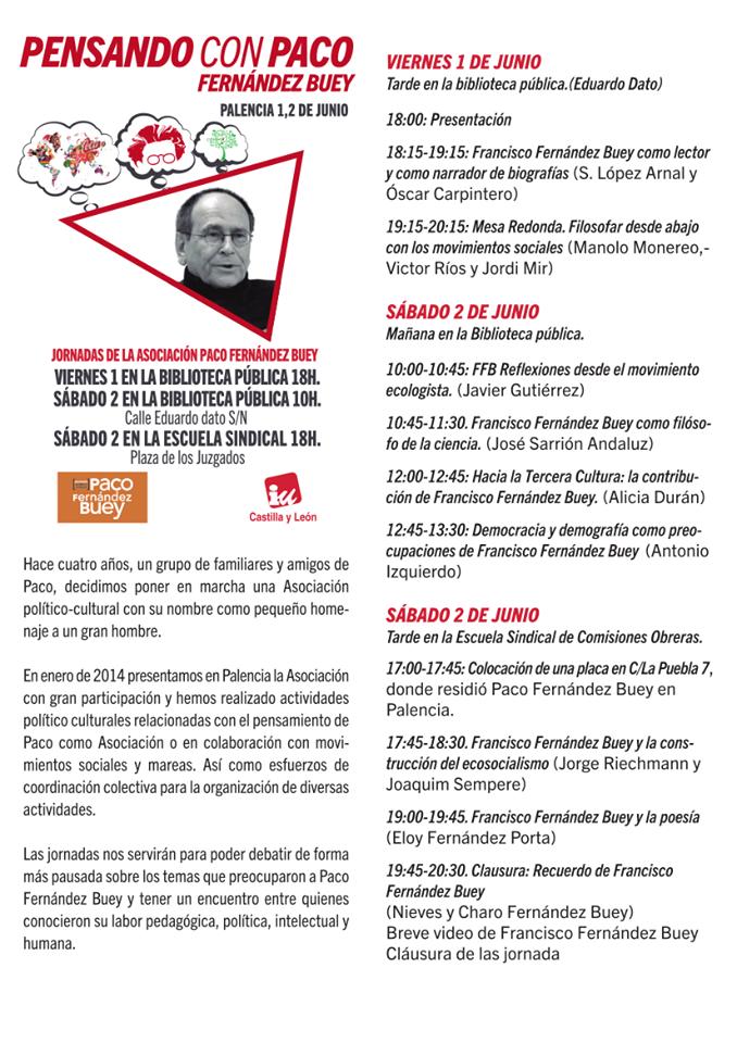 programa jornadas PFB, 1 y 2 junio 2018