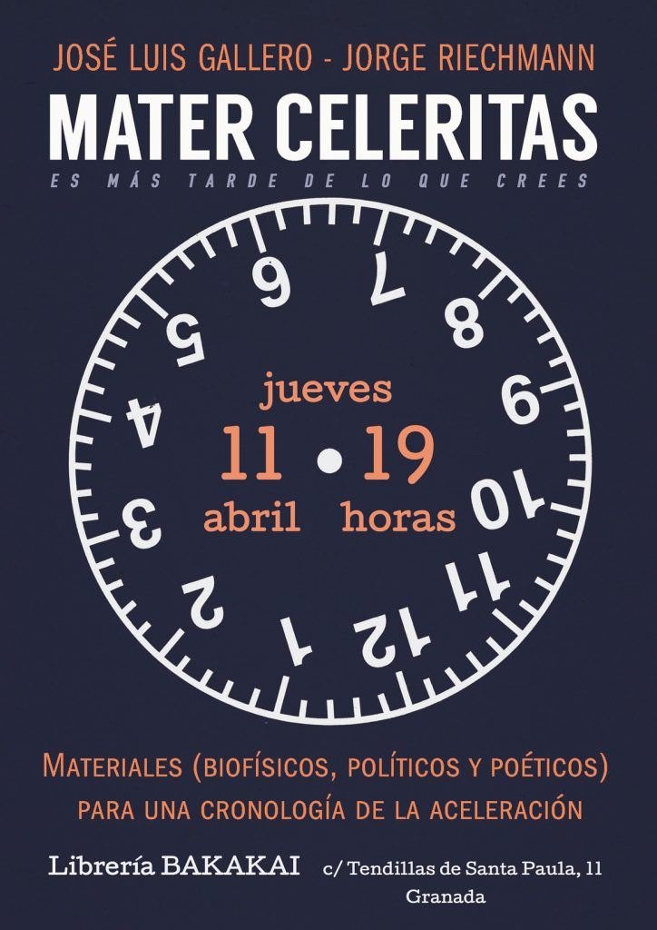 cartel MATER CELERITAS Bakakai 11 abril 2019