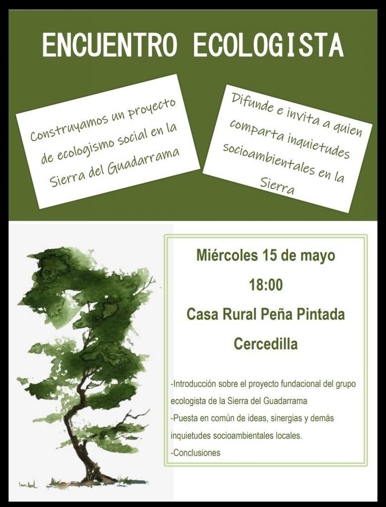 encuentro informativo ecologista 15.5.2019