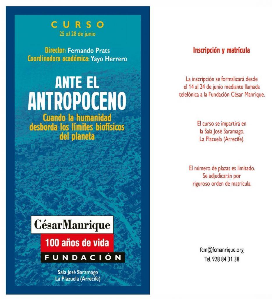 curso ANTE EL ANTROPOCENO