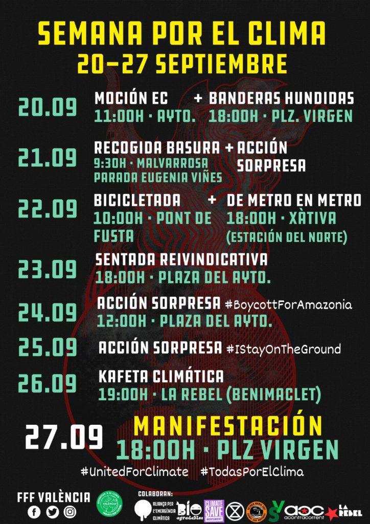 semana clima Valencia, 20 a 27.9.19