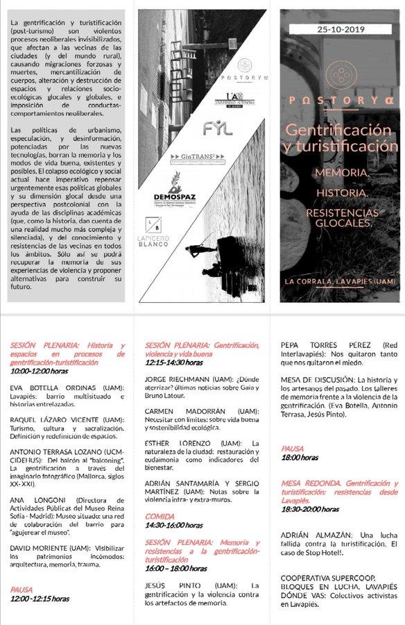 tríptico seminario plenario POSTORY 25.10.19