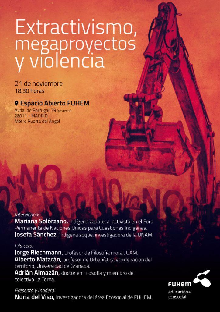 Cartel Acto 21nov Extractivismo