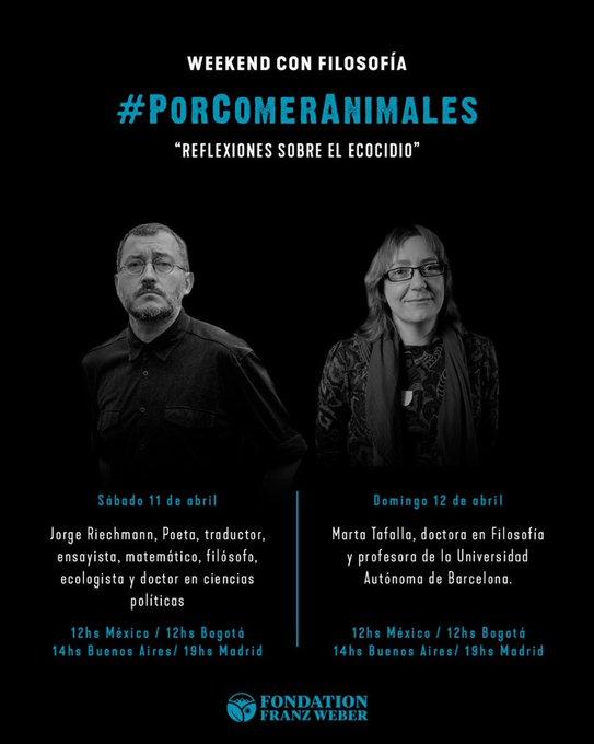 REFLEXIONES ANTE EL ECOCIDIO, 10 y 11 de abril de 2020