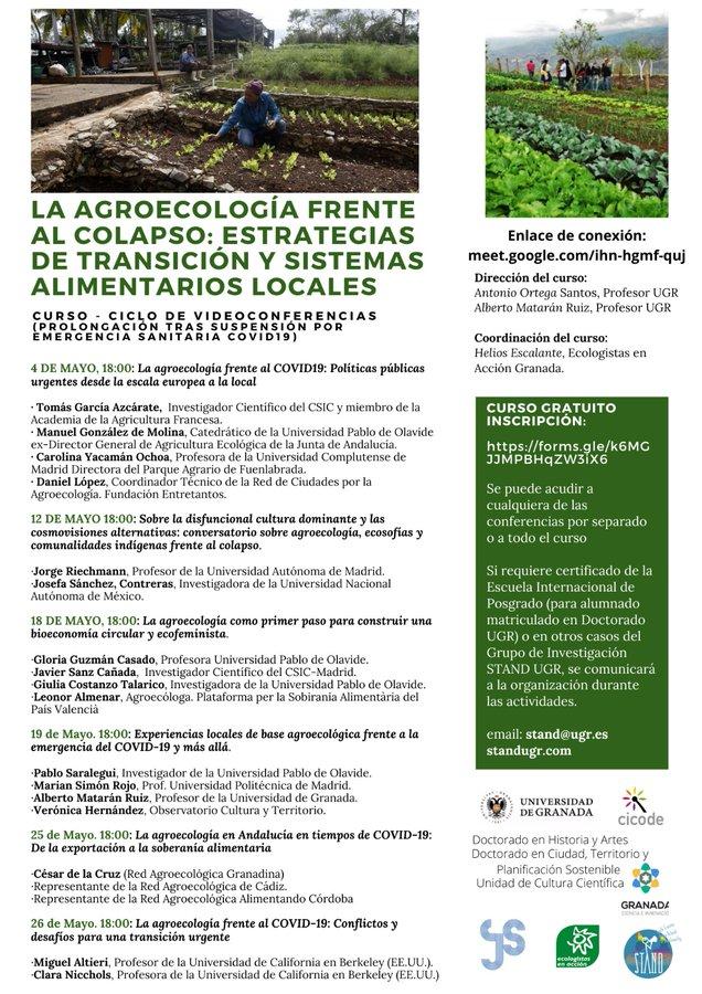 cartel LA AGROECOLOGÍA FRENTE AL COLAPSO