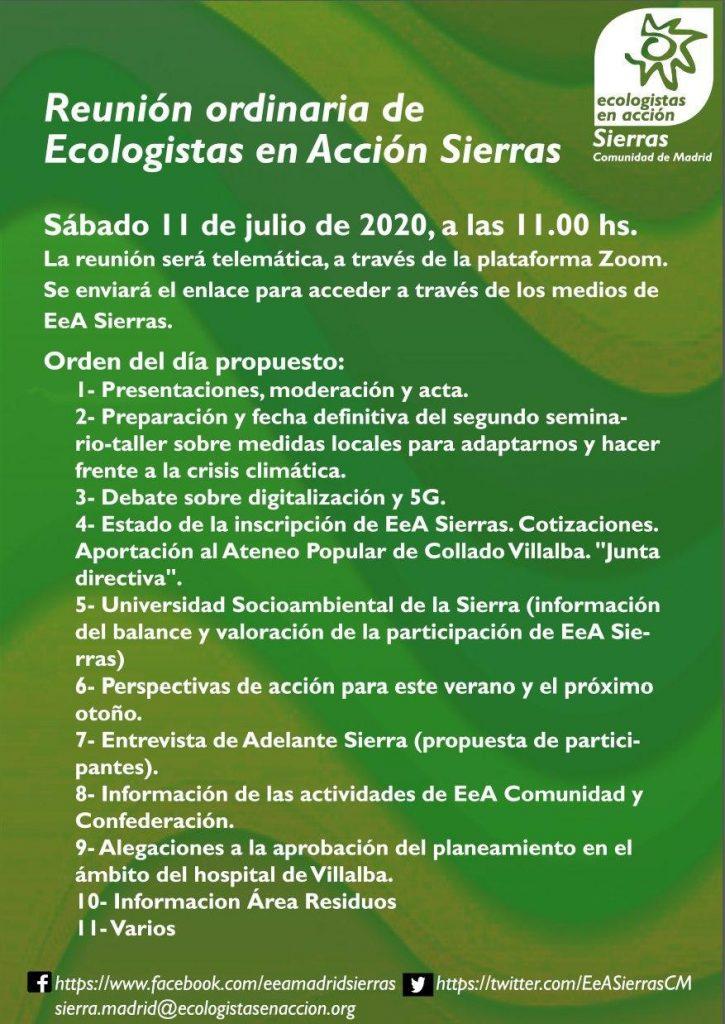 cartelillo asamblea 11.7.20, con su ORDEN DEL DÍA