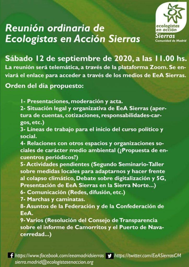cartelillo asamblea 12.9.20, con su ORDEN DEL DÍA