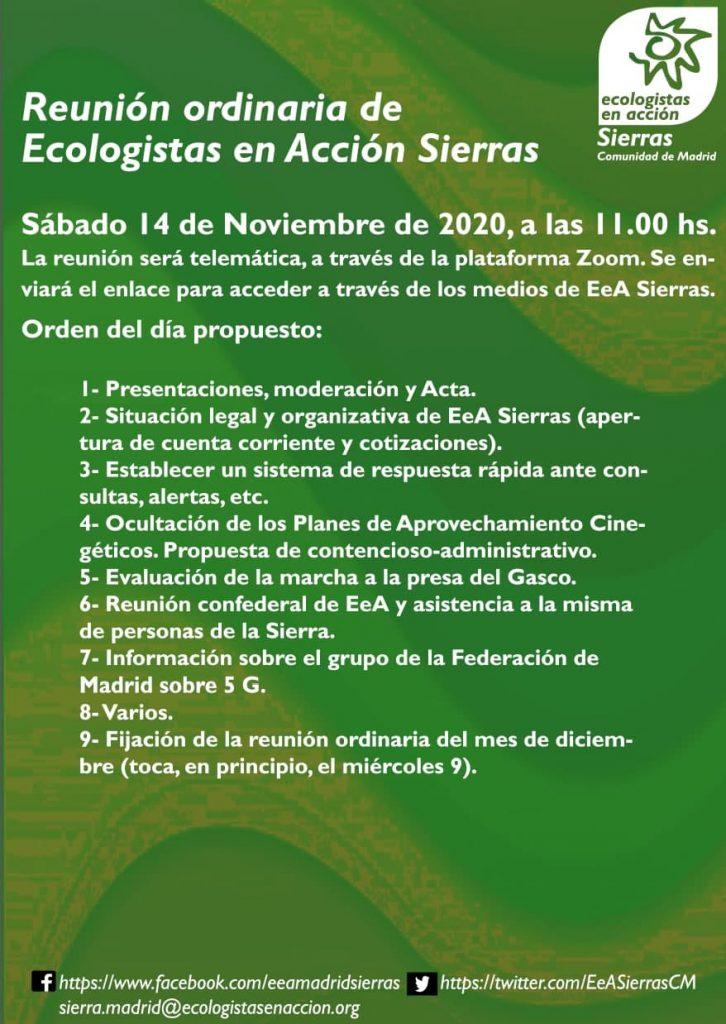 cartelillo asamblea 14.11.20, con su ORDEN DEL DÍA