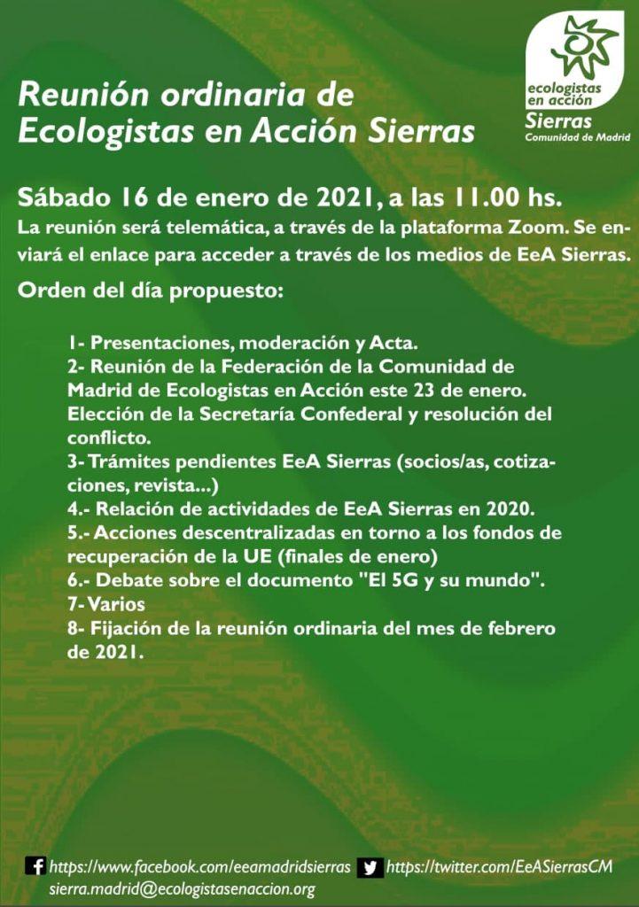 cartelillo asamblea EeA Sierras 16 de enero 2021