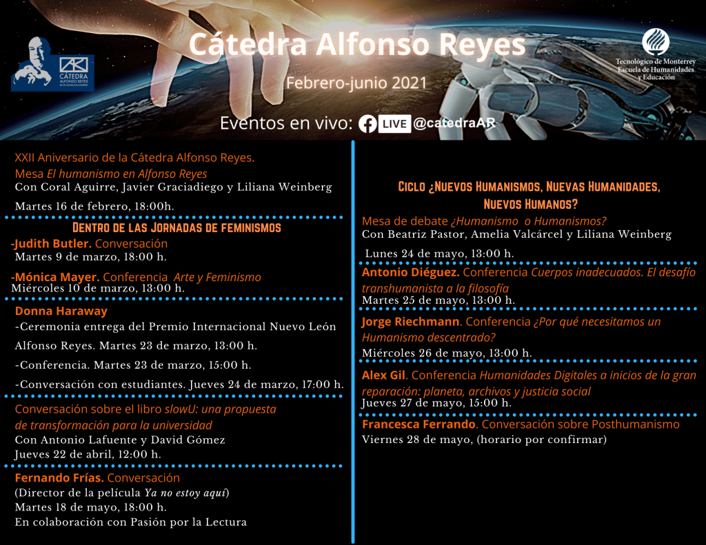 Calendario Cátedra Alfonso Reyes 2021_1